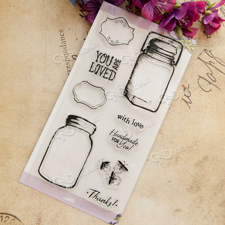 Wishing Bottle Transparent Clear Silicone Stamp/Seal for DIY scrapbooking/photo album Decorative clear stamp sheets chicken animals transparent clear silicone stamp seal for diy scrapbooking photo album decorative clear stamp sheets a547