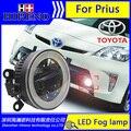 3in1 Super White LED de Circulação Diurna Luzes de nevoeiro Para 2009-2012 toyota Prius Barra de Luz Drl Estacionamento Luzes de Nevoeiro Carro 12 V DC Head Lamp