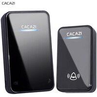 CACAZI New Wireless Doorbell Waterproof 300M Long Range EU AU UK US Plug Smart Door Bell