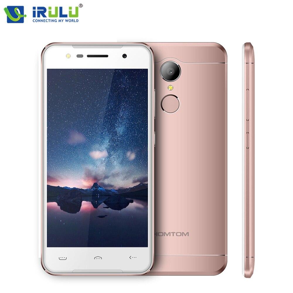 iRULU HOMTOM HT37 Smartphone 5 HD Display Android 6 0 MTK6580 Quad Core 2GB 16GB Fingerprint