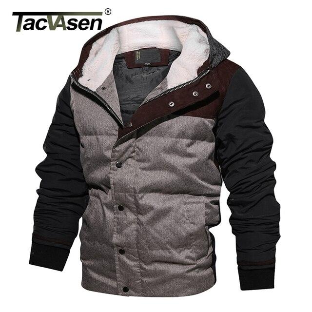 TACVASEN New Military Style Jacket Men Winter Thermal Cotton Jacket Coat  Men s Casual Parka Thick Type Chaqueta EUR Size Jackets 00e59f5e2aa