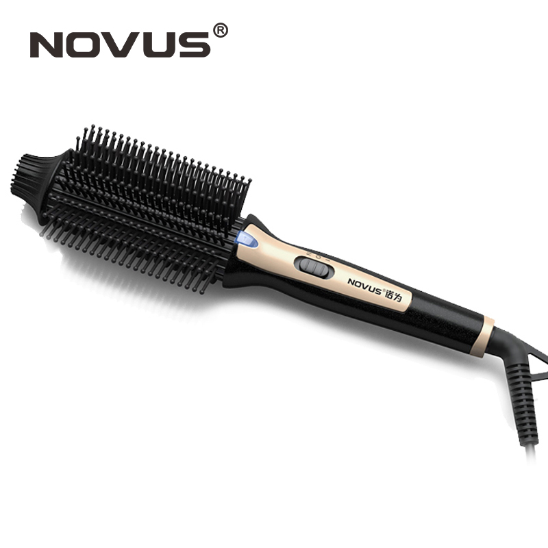 New electric hair straightening iron brush ceramic hair curler rollers hair iron comb pente ferro onda styling tools gw new arrival 2 in 1 hair curler electric comb hairbrush curling hair straightener brush straightening iron roller styling tool