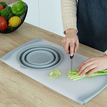 Hot New Multifunction Kitchen Chopping Board Sinks Drain Basket Container Cutting Board HY99
