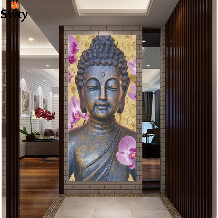 Uus! Abstract Printed Hotoke Buddhism Buddha maali pilt Cuadros Decor Buda lõuend Art For Bed Room Ei raamitud F1641