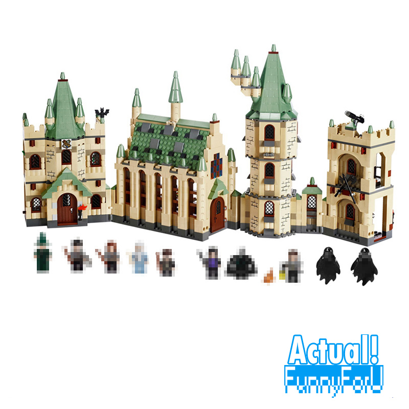 16030 1340Pcs Creative Movies Series The Hogwarts castle Set LEPIN Model Building Block Children Toy Gift 4842INGly lepin 16030 1340pcs movie series hogwarts city model building blocks bricks toys for children pirate caribbean gift