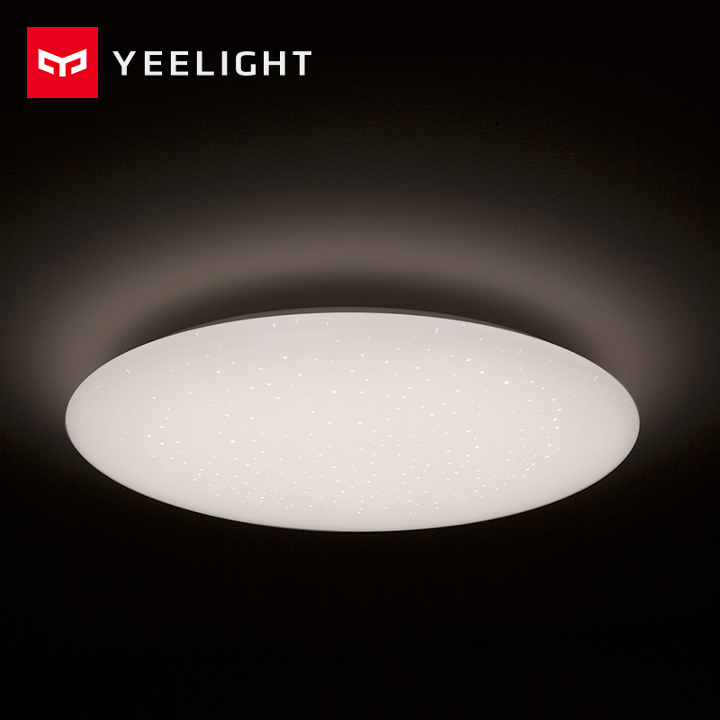 Xiaomi Mijia Yeelight Ceiling light Led Bluetooth WiFi Remote Control Fast Installation For xiaom Mi home app Smart home kit xiaomi yeelight led ceiling pro 650mm rgb 50w work to mi home app and google home and for amazon echo for xiaomi smart home kits