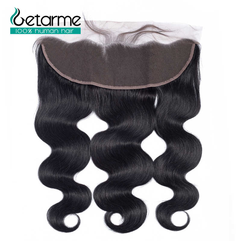 "Getarme Lace Frontal Swiss Lace Closure 13*4 inches Brazilian Body Wave Human Hair Non-Remy Hair 8""-18"" Free Part Closure"