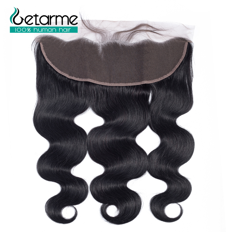 Getarme Lace Frontal Swiss Lace Closure 13*4 Inches Brazilian Body Wave Human Hair Non-Remy Hair 8