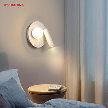 Rotatable 2 Lights LED Wall Lamp Bedroom Bedside Wall Lights Living room Corridor Wall Sconce White Body Reading Lamp Home Light led wall light bedroom bedside lamp book reading lamp wall lamps indoor modern bedroom led ceiling wall lights home wall sconce