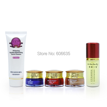 Free shipping beauty whitening rejuvenation moisturizing remove freckle spot  combination set