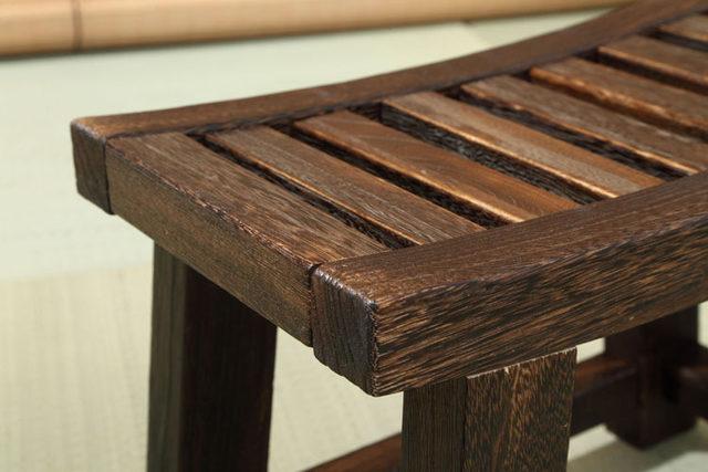 Tienda Online Japonés de madera antiguo taburete Banco madera de ...