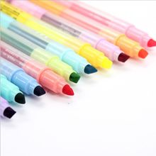 10Pcs Double-end Erasable Highlighter Pen Markers Pastel Liquid Chalk Marker Fluorescent Milkliner Highlighters Color marvy brush fluorescence fabric markers alcohol fluorescent highlighters japan original cloths soft marker ultra fine line pens