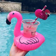 4pcs Flamingo Drink Holders Inflatable Float Coasters Holder for Beverage Cans Cups & Bottles Fun Kid Adult Pool Party
