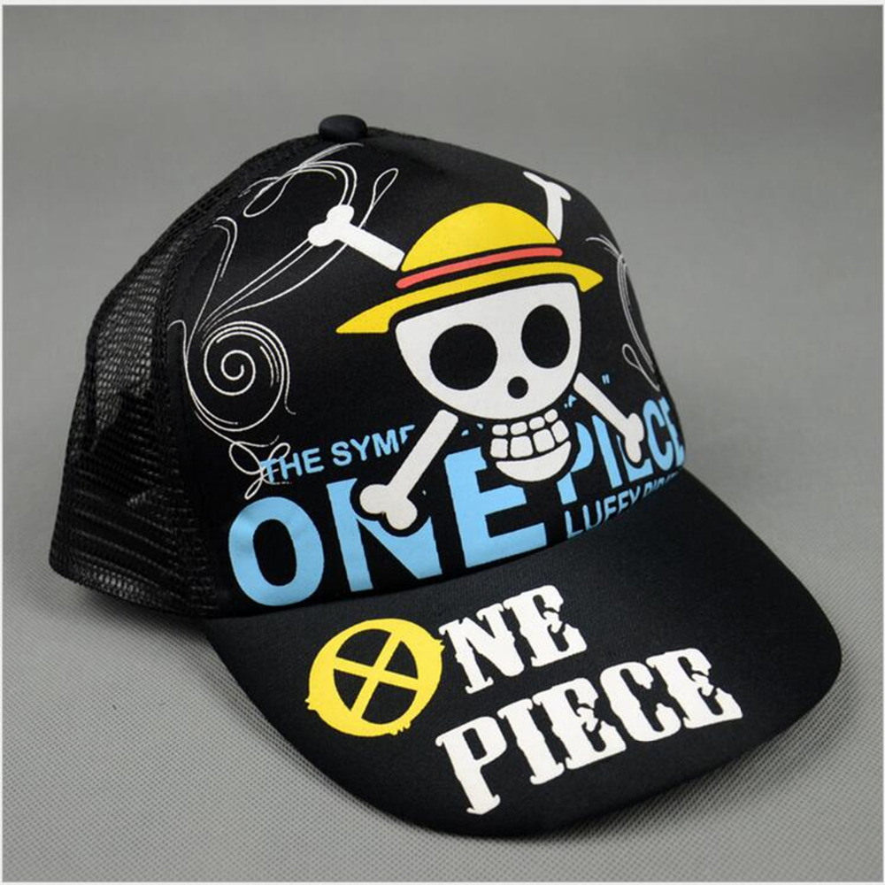 все цены на  Anime one piece Cosplay Cap Skull pirate flag charm Costume Baseball cap Adult Blank Snapback Caps Novelty Summer Hat  онлайн