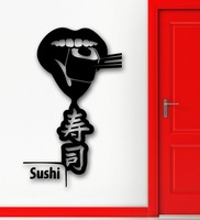 Wall Stickers Vinyl Decal Shop Sushi Japanese Food Kitchen Restaurant