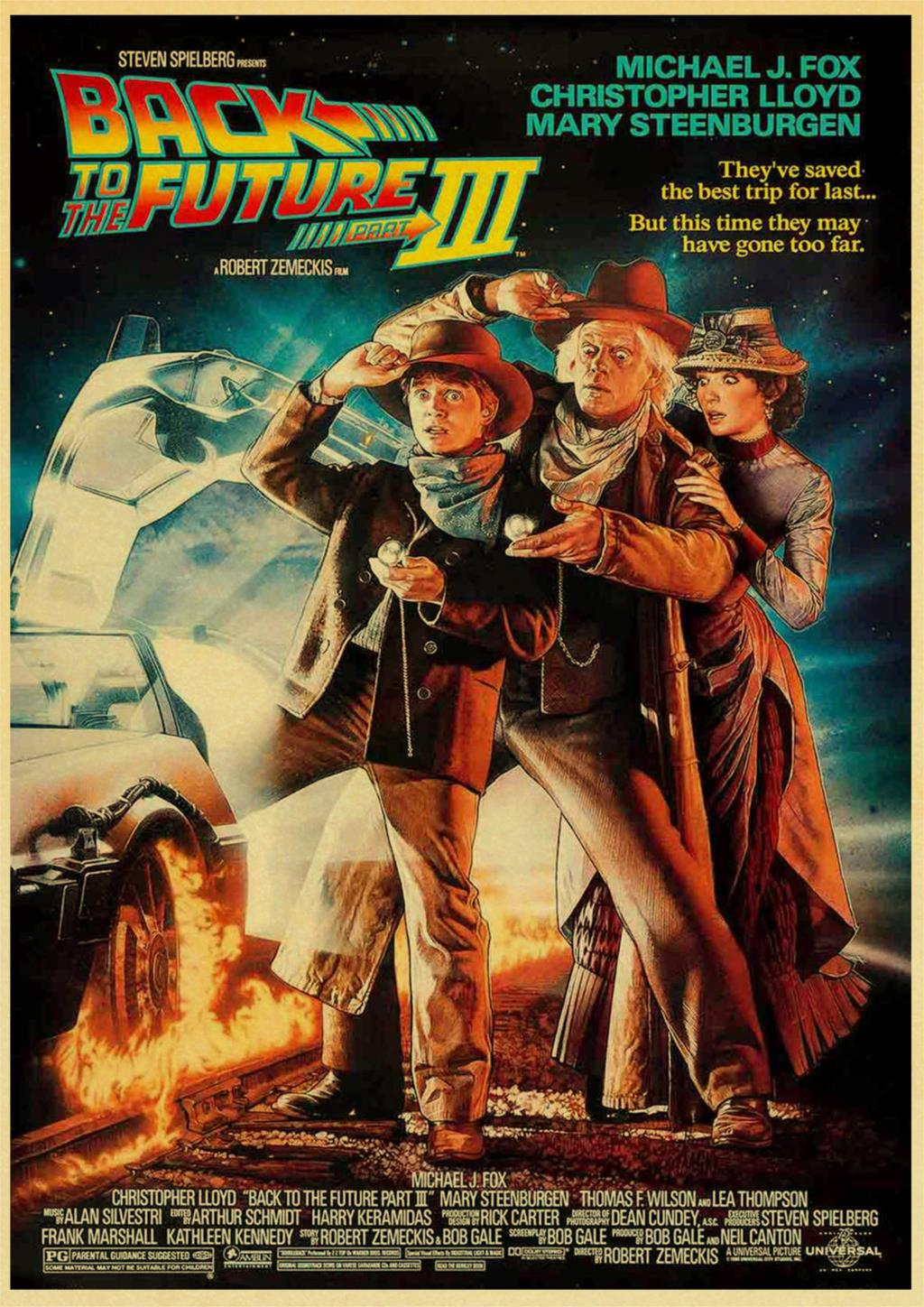 Classic Movie Back To The Future Vintage Posters For Home/Bar/Living Decor kraft Paper high quality poster wall sticker