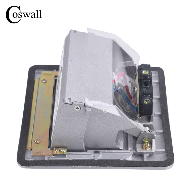 Panneau en aluminium Coswall prise de sol 16A russie espagne prise de courant Standard EU Port de Charge USB données prise Internet RJ45 - 2