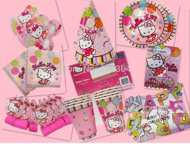 Online Shop Free shippinghello kitty birthday party kit for 8