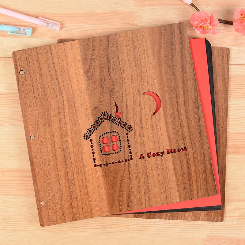 Diy Cover Guest Book : Cmx cm hollow wooden guest book photos wedding