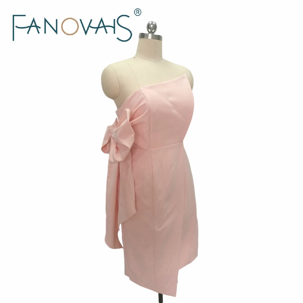 Dusty pink   bridesmaid     dresses   For wedding 2019 bruidsmeisjes jurk women Short Maid of Honor   Dress   les robes demoiselles d honner