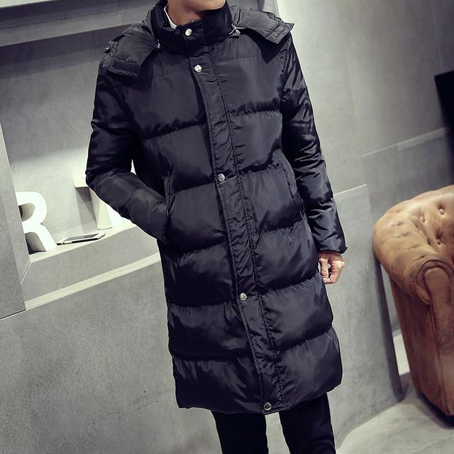 Heren Lange Winterjas.Hoge Kwaliteit Hooded Lange Winterjas Mannen Jas 2017 Winter Jassen