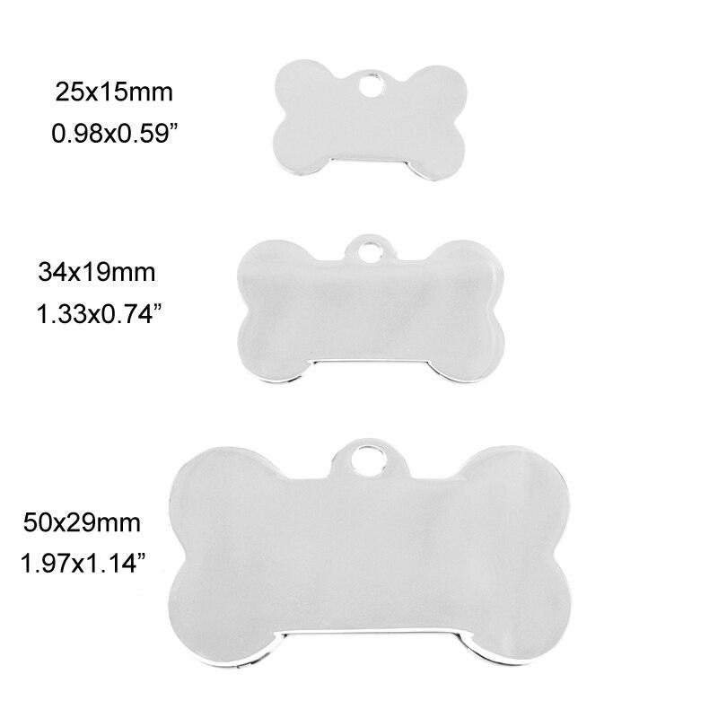 100% ステンレス鋼ブランク犬 ID タグ骨ペットタグ名タグプレート襟装飾高ポリッシュ卸売 50 ピース  グループ上の ジュエリー & アクセサリー からの ペンダント の中 2
