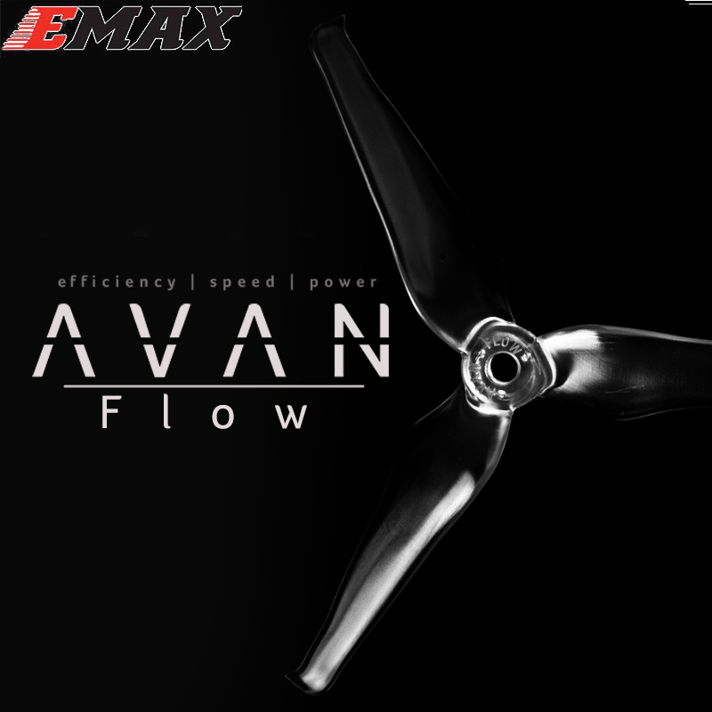 10pair/lot EMAX AVAN Flow 5x4.3x3mm 5 Inch 3 Blades Propeller Props 5CW+5CCW For RC Drone10pair/lot EMAX AVAN Flow 5x4.3x3mm 5 Inch 3 Blades Propeller Props 5CW+5CCW For RC Drone