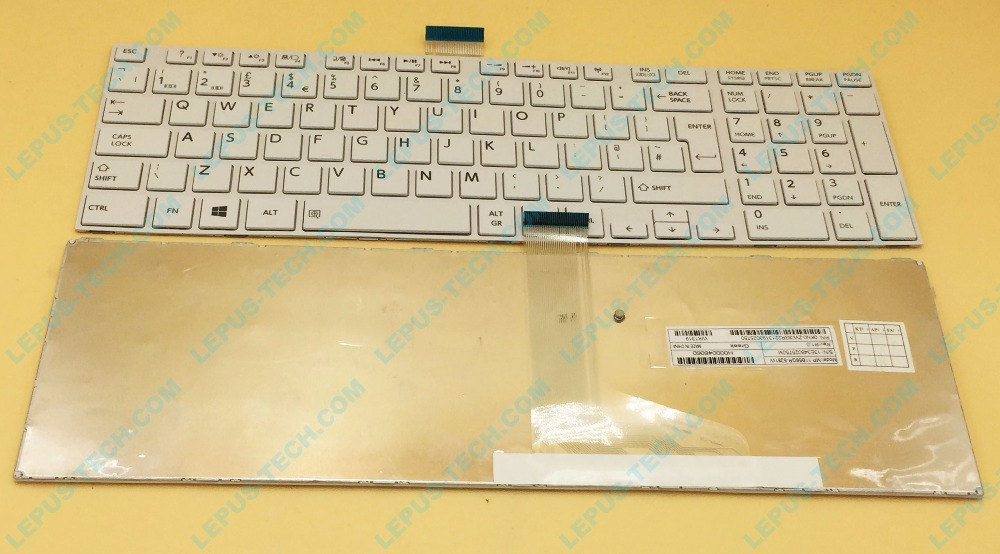 Original UK Keyboard for TOSHIBA satellite L850 L855 C850 C855D C850D C855 C870 C870D C875 C875D L875 L875D white with frame sheli v000275560 laptop motherboard for toshiba satellite c850 c855 l850 l855 6050a2541801 uma hd 4000 hm76 main board works