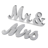 Rustic Wood Wedding Table Decor Wedding Decorations Ideas Vintage Sparkling Mr And Mrs Set Gold Silver Wedding Photobooth Props