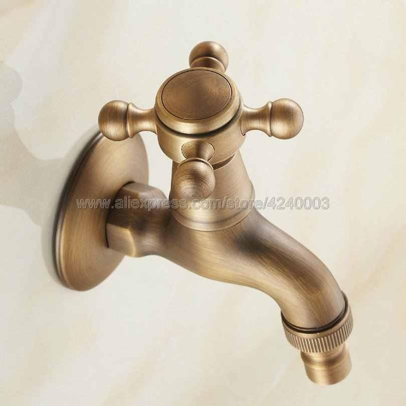 صنبور نحاسي عتيق يُعلق على الحائط للحدائق لصنبور الحمام وغسالة مياه/صنبور حوض البركة من الممسحة Kav101
