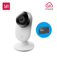 Yi Home Camera 2 1080P With 32G SD Card FHD Smart Camera Home Security Mini Webcam