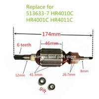 AC220-240V ротора якорная арматура Замена для MAKITA 513633-7 HR4010C HR4001C HR4011C ротора