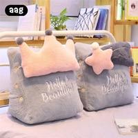 Plush Triangle Sofa Cushion Back Pillow Bed Backrest Office Chair Pillow Waist Support Cushion Lounger Reading Lumbar Cushions
