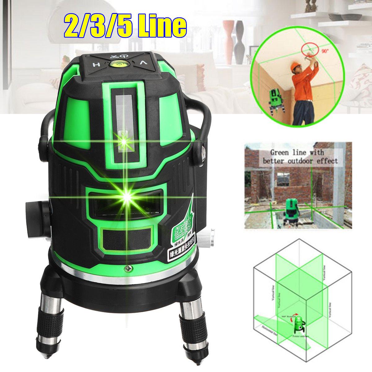 3D 2 3 5 Line 360C Green Rotary Cross Laser Level Self Leveling