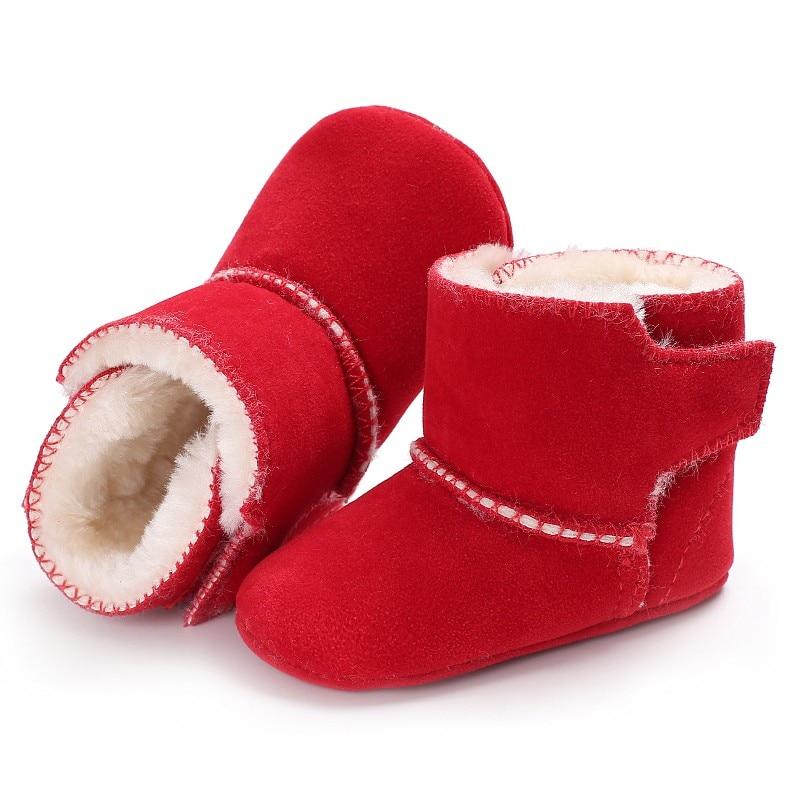 Новорожденных Для маленьких мальчиков ботинки для девочек зимние теплые пинетки для малышей Обувь первых шагов Booty кроватки Babe мягкая подо...