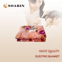 SOARIN Electric Warming Blankets 220v Manta Electrica 150x180cm Electric Blanket Plush Body Warmer Electric Heating Blanket