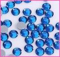Ss6, ss10, ss16, ss20, ss30 Capri Azul DMC Ferro Em Strass De Vidro de Alta Qualidade/Hot fix Cristal Pedrinhas com Forte Cola Cinza