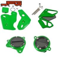Motorcycle Front Sprocket Starter Motor Oil Filter Frame Cover Guard Protection For KAWASAKI KLX250 KLX 250