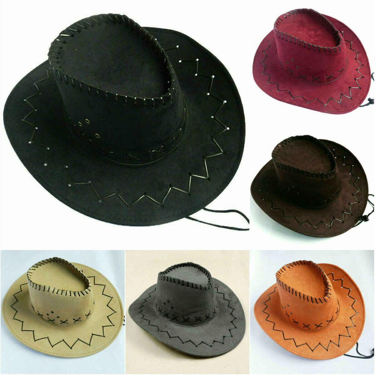 ファッション優しい草原女性男性ロックハット野生西ファンシー西洋カウガールカウボーイヘッド磨耗キャップ帽子