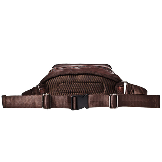 Vintage Men Crazy Horse PU Leather Waist Packs Solid Travel Belly Bag For Mobile Phone Money Belt Pouch Bags