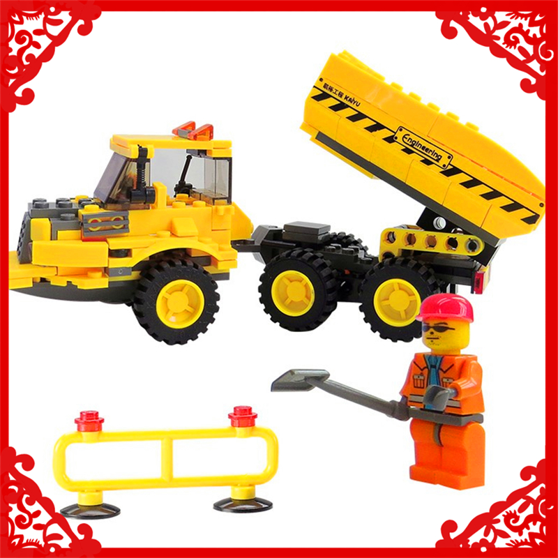 MLOOMEN TY-EN-24 City Tractor Truck Model Building Block 191Pcs DIY Educational  Toys For Children Compatible Legoe hot sale 1000g dynamic amazing diy educational toys no mess indoor magic play sand children toys mars space sand