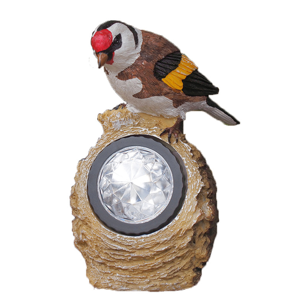 Gift Garden Bird Lights Home Ornament Animal Lighting Decorative Solar Powered Sculpture Yard Lamp Path Decor Outdoor Party