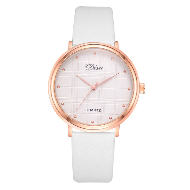 Disu Brand Women Watches Ladies Cuff Fashion Watches Female Quartz Wristwatch Leather Creative Business Dress Clock Gift
