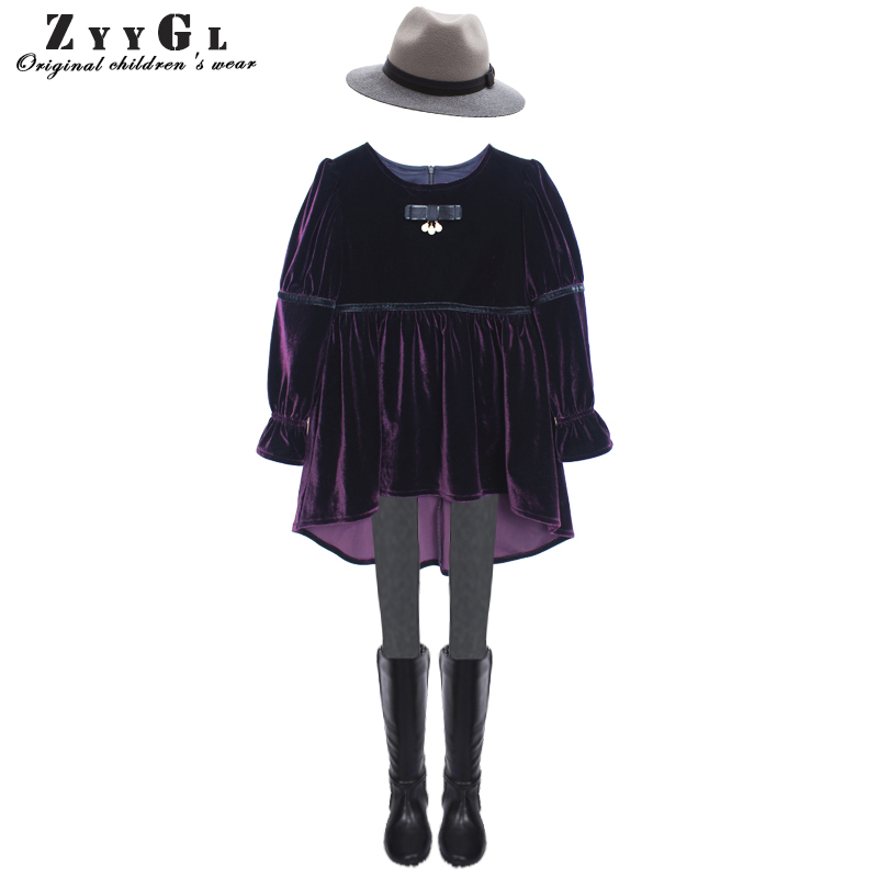 ZYYGL 2017 Autumn  Winter Girls Dress Thicken Girls Warm Velvet Princess dress for children Lovely dress Toddler Girl Clothing 2016 winter new soft bottom solid color baby shoes for little boys and girls plus velvet warm baby toddler shoes free shipping