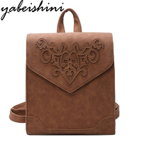 2017 Hot Women Backpack High Quality PU Leather Sac A Main Embroidery Bags For Teenagers Girls