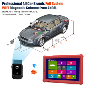 Image 4 - VPECKER E1 Wifi Professional OBD2 Automotive Scanner ABS TPMS DPF SAS IMMO OBDII Diagnostic Tool With 10 Inch Tablet Free Update