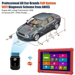 Image 4 - VPECKER E1 Wifi profesjonalny skaner samochodowy OBD2 ABS TPMS DPF SAS IMMO narzędzie diagnostyczne OBDII z 10 Cal Tablet bezpłatna aktualizacja