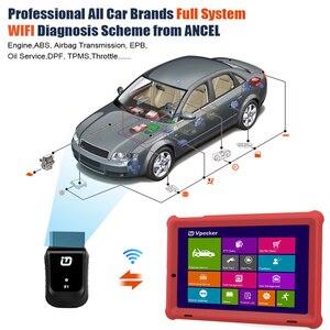 Image 4 - VPECKER E1 Wifi profesyonel OBD2 otomotiv tarayıcı ABS TPMS DPF SAS IMMO OBDII teşhis aracı ile 10 inç Tablet ücretsiz güncelleme