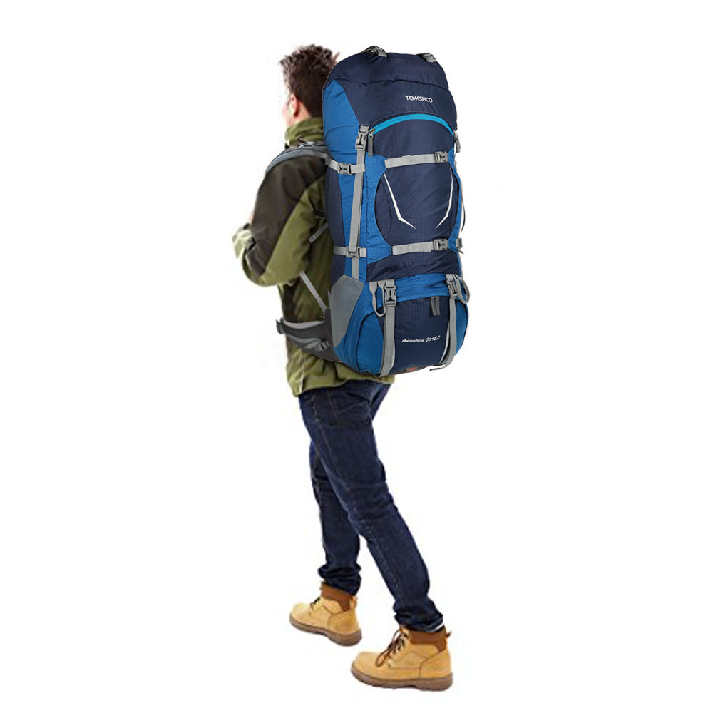 TOMSHOO 75L Outdoor Bags Camping Bag Travel Climbing Backpack ...