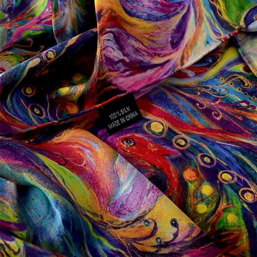 Clearance SalePure Silk Scarf Shawl Foulard BYSIFA Women 175--52cm Ladies Luxury Spring Brand